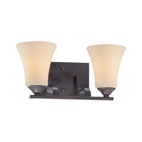 "17"" Thomas Lighting Treme 2-Light Bath Bar in Espresso, Traditional - 1"