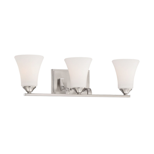 "23"" Thomas Lighting Treme 3-Light Wall Lamp in Brushed Nickel, Traditional - 1"