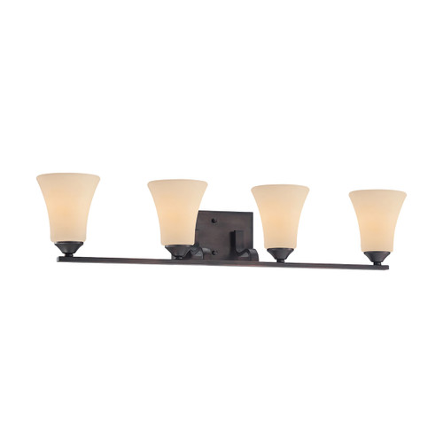 "32"" Thomas Lighting Treme 4-Light Bath Bar in Espresso, Traditional - 1"