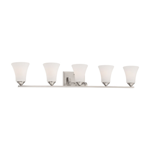 "41"" Thomas Lighting Treme 5-Light Wall Lamp in Brushed Nickel, Traditional - 1"
