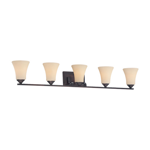 "41"" Thomas Lighting Treme 5-Light Bath Bar in Espresso, Traditional - 1"