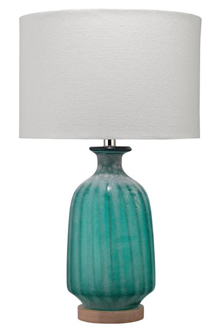 Aqua Frosted Glass Table Lamp