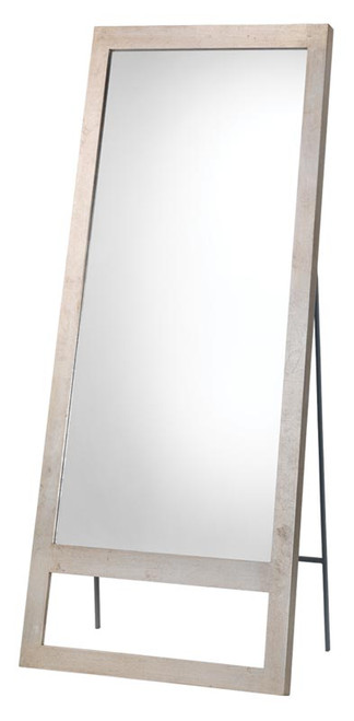 Austere Leaning Floor Mirror in Champagne Leaf