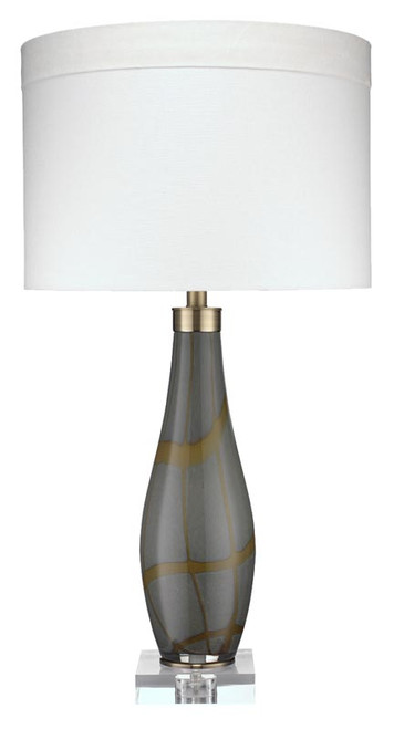 Boa Table Lamp in Taupe Glass