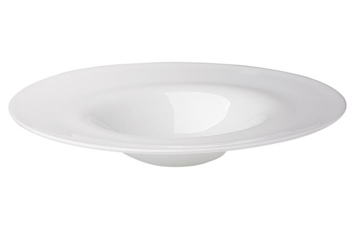 Cordelia Hand Blown Glass Plate in White Blown Glass