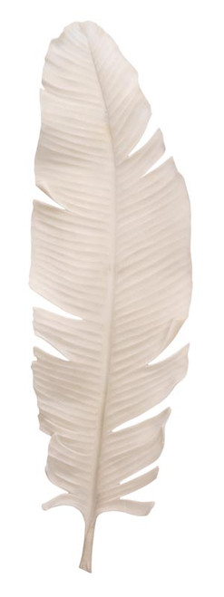 Feather Object, Large in Off White Resin