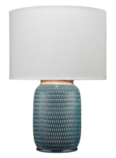 Graham Table Lamp in Blue Ceramic