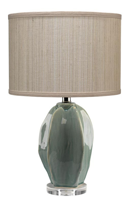 Hermosa Table Lamp in Teal Ceramic