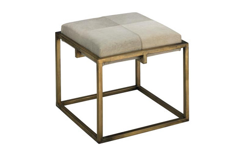 Shelby Stool in White Hide