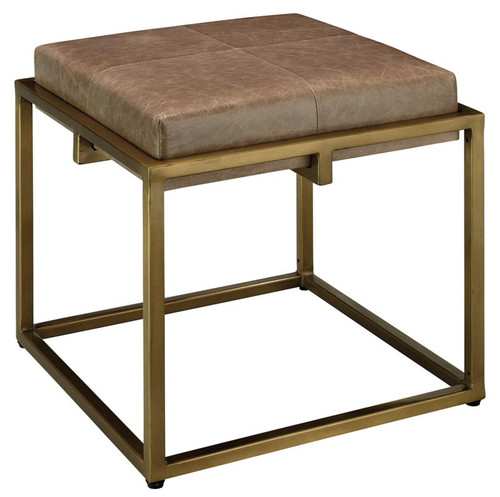 Shelby Stool in Taupe Leather
