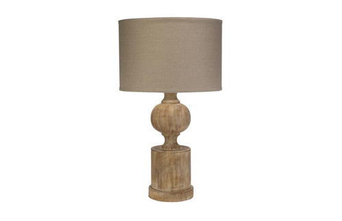 Winward Table Lamp in Natural Wood Resin