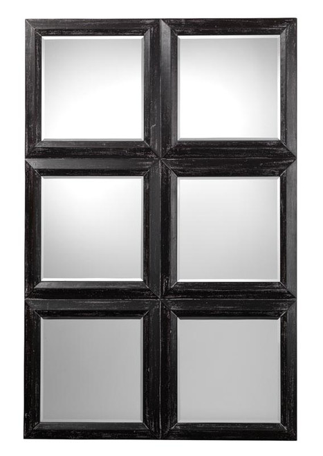 Yvette Mirror in Dark Grey Wood