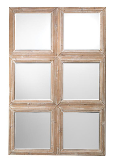Yvette Mirror in Natural Veneer
