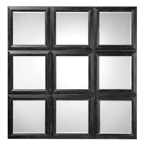 Yvonne Mirror - Dark Grey Wood