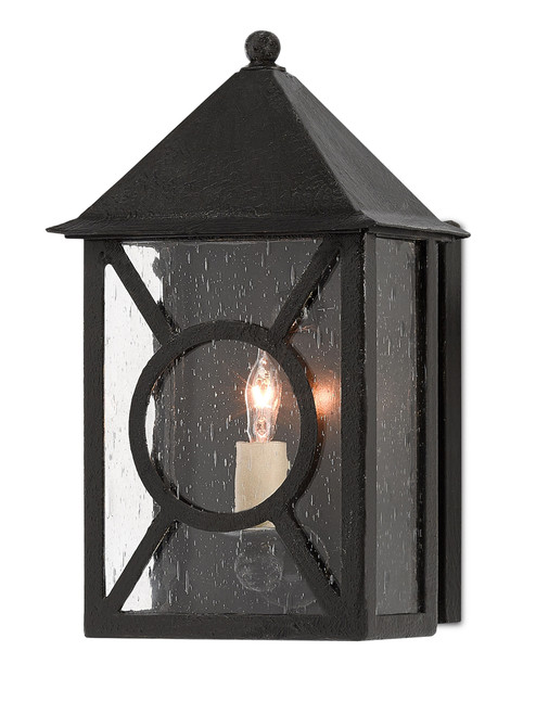 "12"" Currey and Company Ripley Small Outdoor Wall Sconce - 1"