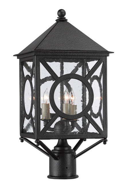 "21"" Currey and Company Ripley Small Post Light - 1"