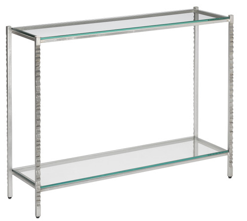 "40"" Currey and Company Logan Silver Console Table - 1"