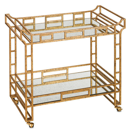 "36"" Currey and Company Odeon Bar Cart - 1"