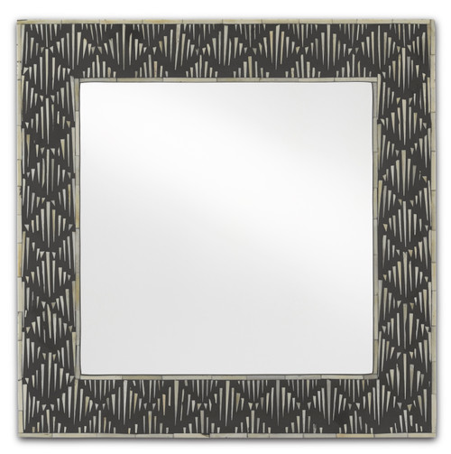 "24"" Currey and Company Davos Small Mirror - 1"