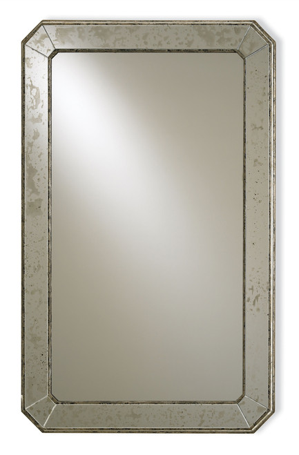 "41"" Currey and Company Antiqued Mirror - 1"