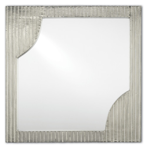 "24"" Currey and Company Morneau Silver Square Mirror - 1"