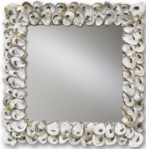 "20"" Currey and Company Oyster Shell Mirror - 1"