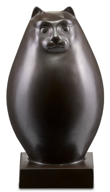 "12"" Currey and Company Le Chat Bronze - 1"