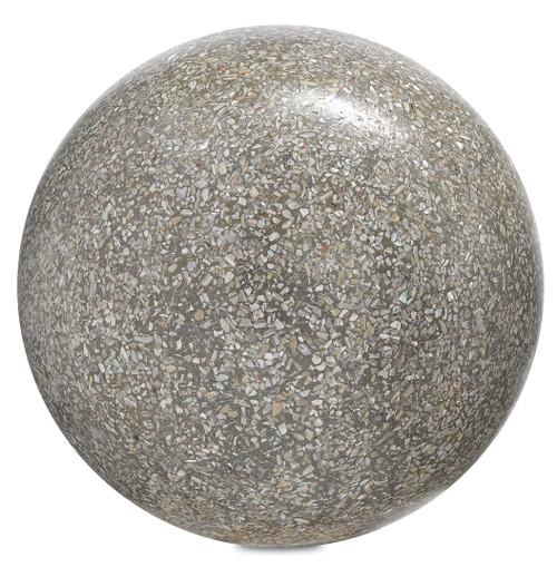 "10"" Currey and Company Abalone Large Concrete Ball - 1"