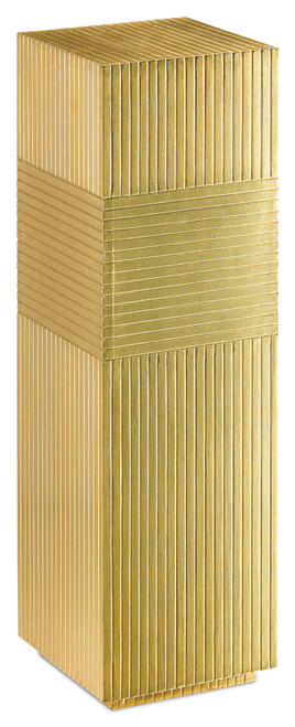 """40"""" Currey and Company Odense Brass Pedestal - 1"""