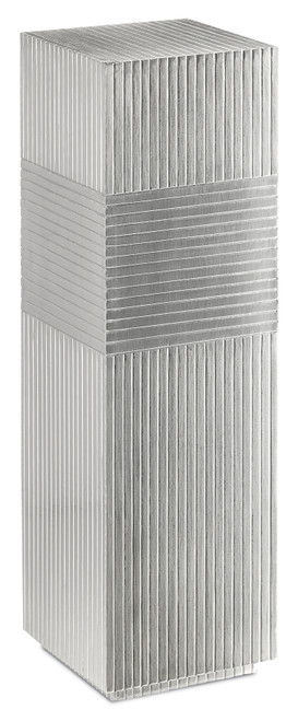 """40"""" Currey and Company Odense Silver Pedestal - 1"""