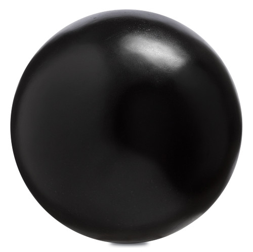 "10"" Currey and Company Black Large Concrete Ball - 1"