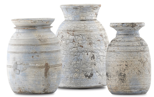 """Currey and Company Set of 3 Hymachal Pot 10"""" - 1"""