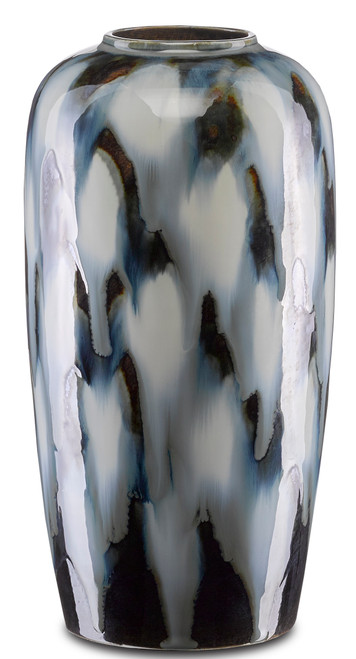 "12"" Currey and Company Minten Medium Vase - 1"