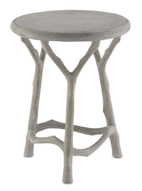 """18"""" Currey and Company Hidcote Table/Stool - 1"""