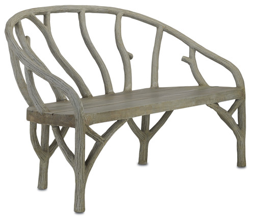 "61"" Currey and Company Arbor Bench - 1"