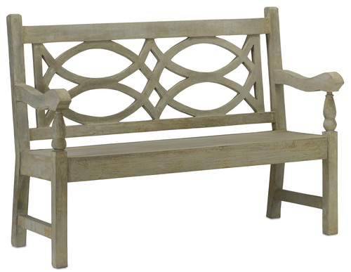 "54"" Currey and Company Hatfield Bench - 1"