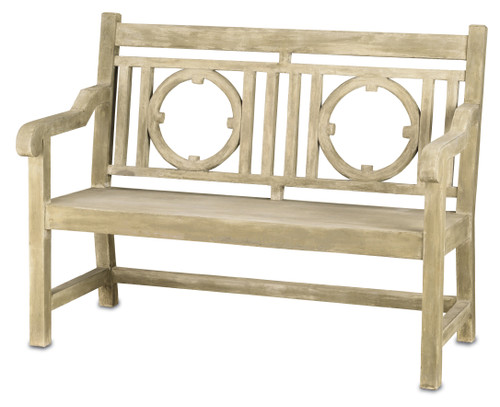 "51"" Currey and Company Leagrave Small Bench - 1"