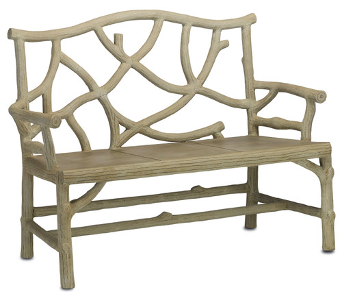 "49"" Currey and Company Woodland Bench - 1"