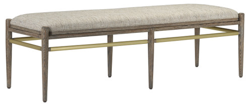 """60"""" Currey and Company Visby Calcutta Pepper Bench - 1"""