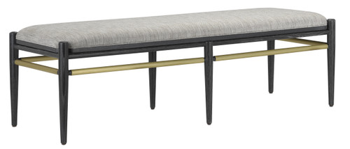 """60"""" Currey and Company Visby Smoke Black Bench - 1"""