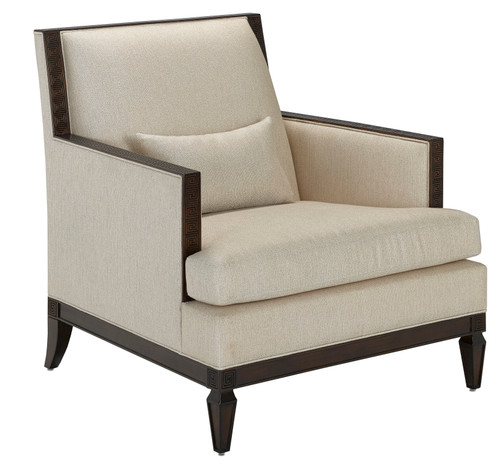 """35"""" Currey and Company Zoe Sand Chair - 1"""