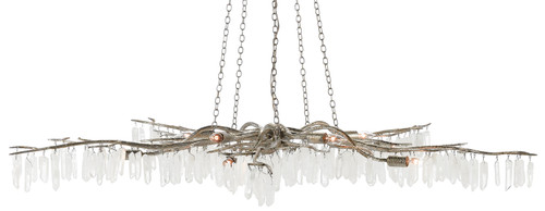 """62"""" Currey and Company Forest Light Silver Chandelier - 1"""