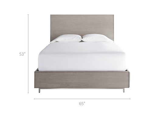 """87"""" Universal Furniture Spaces Tanner Queen Bed with Storage Rails - 1"""
