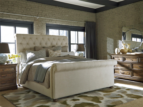 """108"""" Universal Furniture Curated The Boho Chic Cal King Bed - 1"""