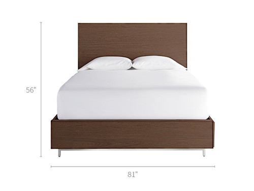 """87"""" Universal Furniture Spaces Tanner King Bed with Storage Rails - 1"""