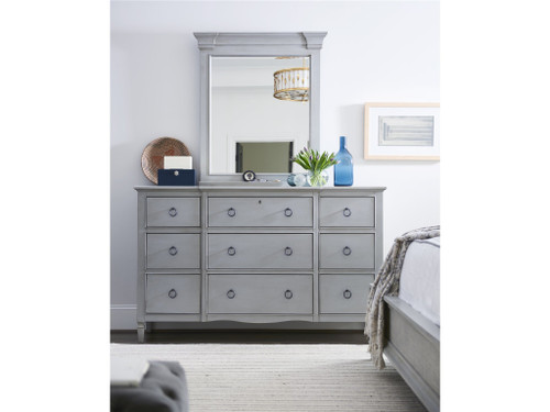 "66"" Universal Furniture Summer Hill - French Gray Nine Drawer Dresser - 1"