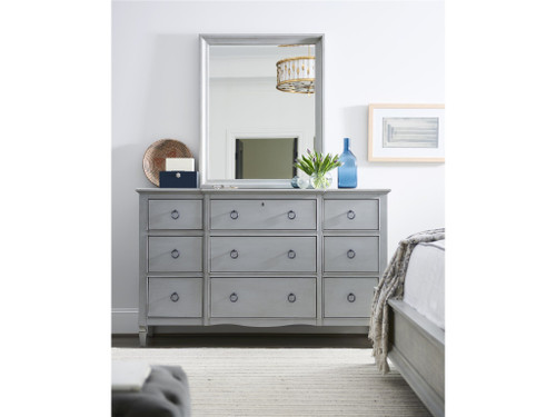 "43"" Universal Furniture Summer Hill - French Gray Mirror - 1"
