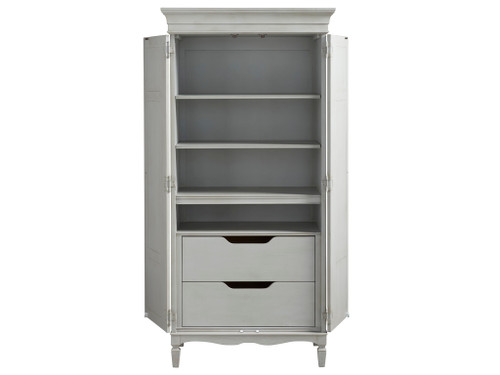 """78"""" Universal Furniture Summer Hill - French Gray Tall Cabinet - 1"""