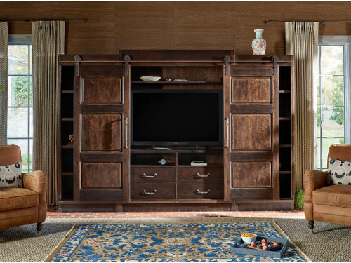 "127"" Universal Furniture Traditions Park Hill Entertainment Wall Unit - 1"