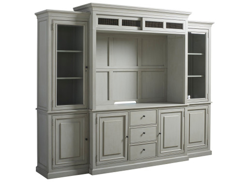 "113"" Universal Furniture Summer Hill - French Gray Home Entertainment Wall System - 1"